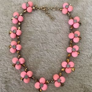J.CREW SMALL POP FLOWER NECKLACE PINK C6946 $110